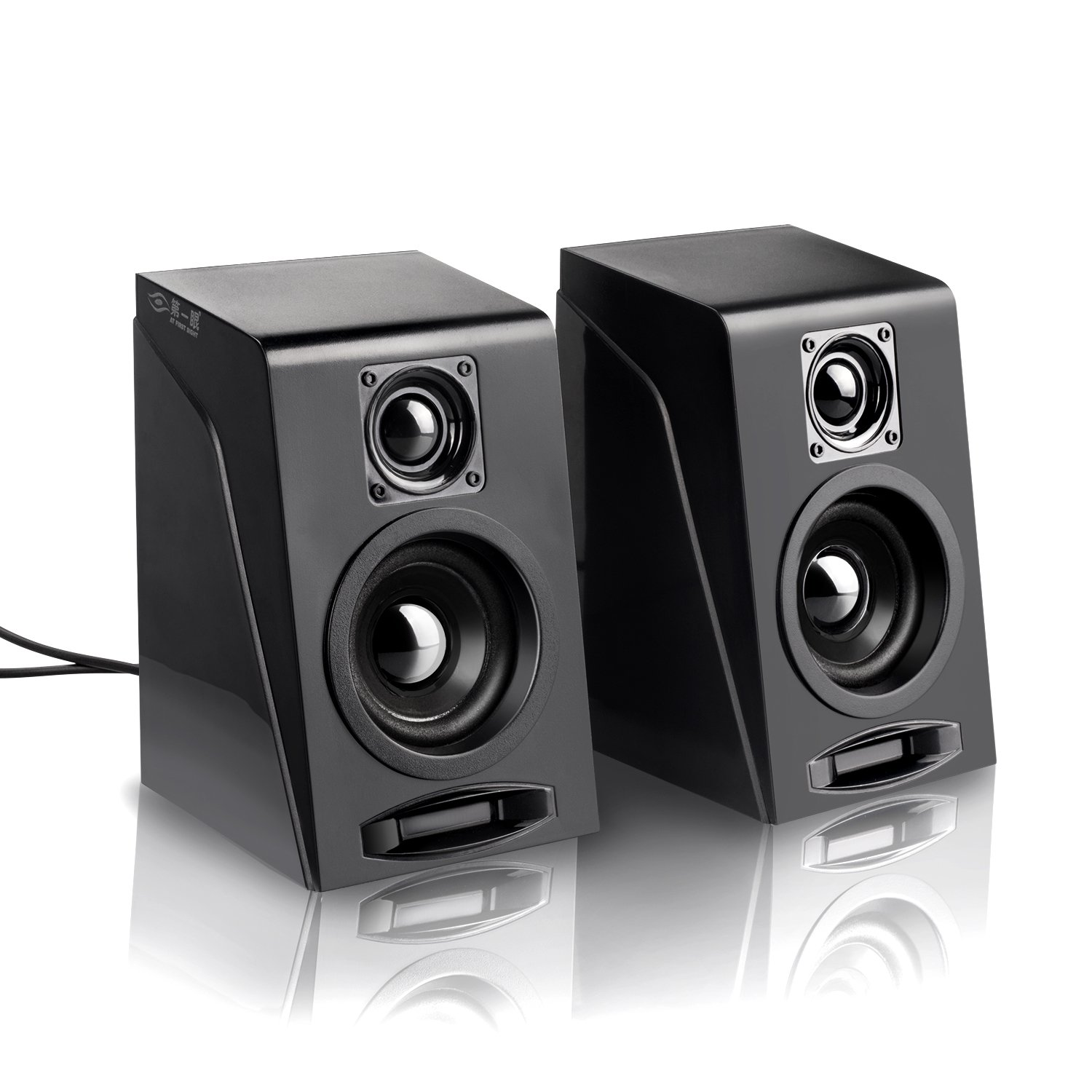 USB Powered Computer Speakers, Wired Stereo Desktop Bookshelf Laptop Speakers with Volume Control Ideal for Notebook, Laptop, PC, Desktop Tablet by Meetuo (Image #2)