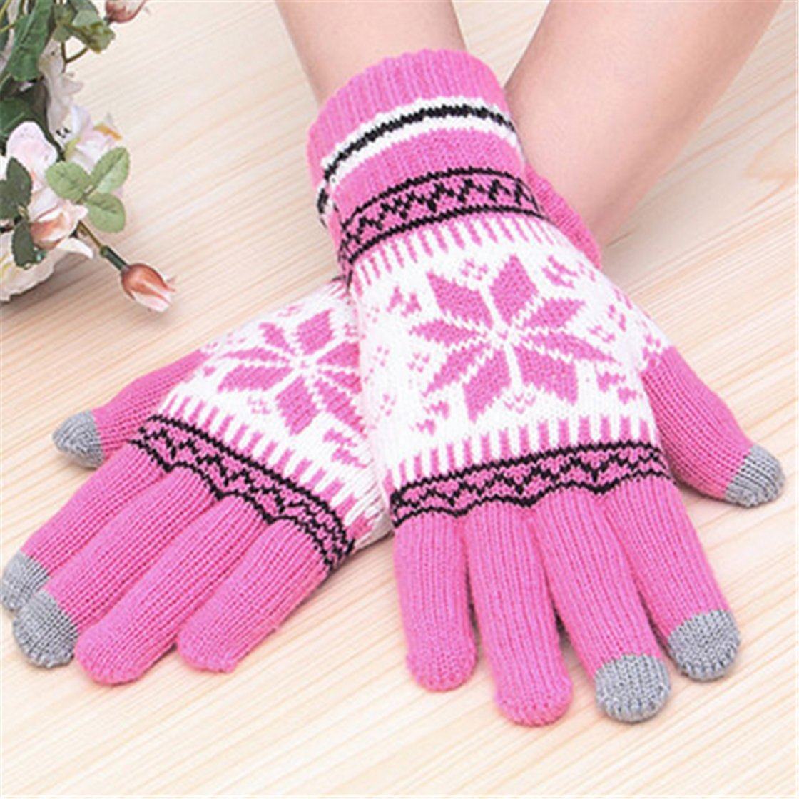 Touchscreen Wool Gloves $2.46.