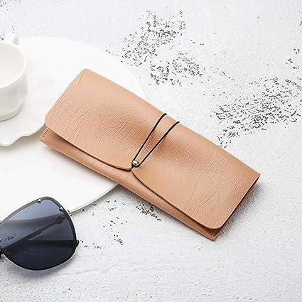 QSFGHJKUV Estuche de lápices Estuche para lentes 5 Piezas Moda Personalidad Gafas de sol Bolsa de almacenamiento Estuche de anteojos de cuero Pvc multicolor Estuche de lentes Estuche suave, Rosa: Amazon.es: Oficina