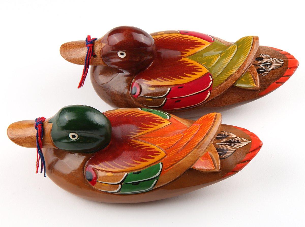 8.7 Korean Traditional Lucky Big Size Wooden Wedding Mandarin Ducks Home Visiting Present