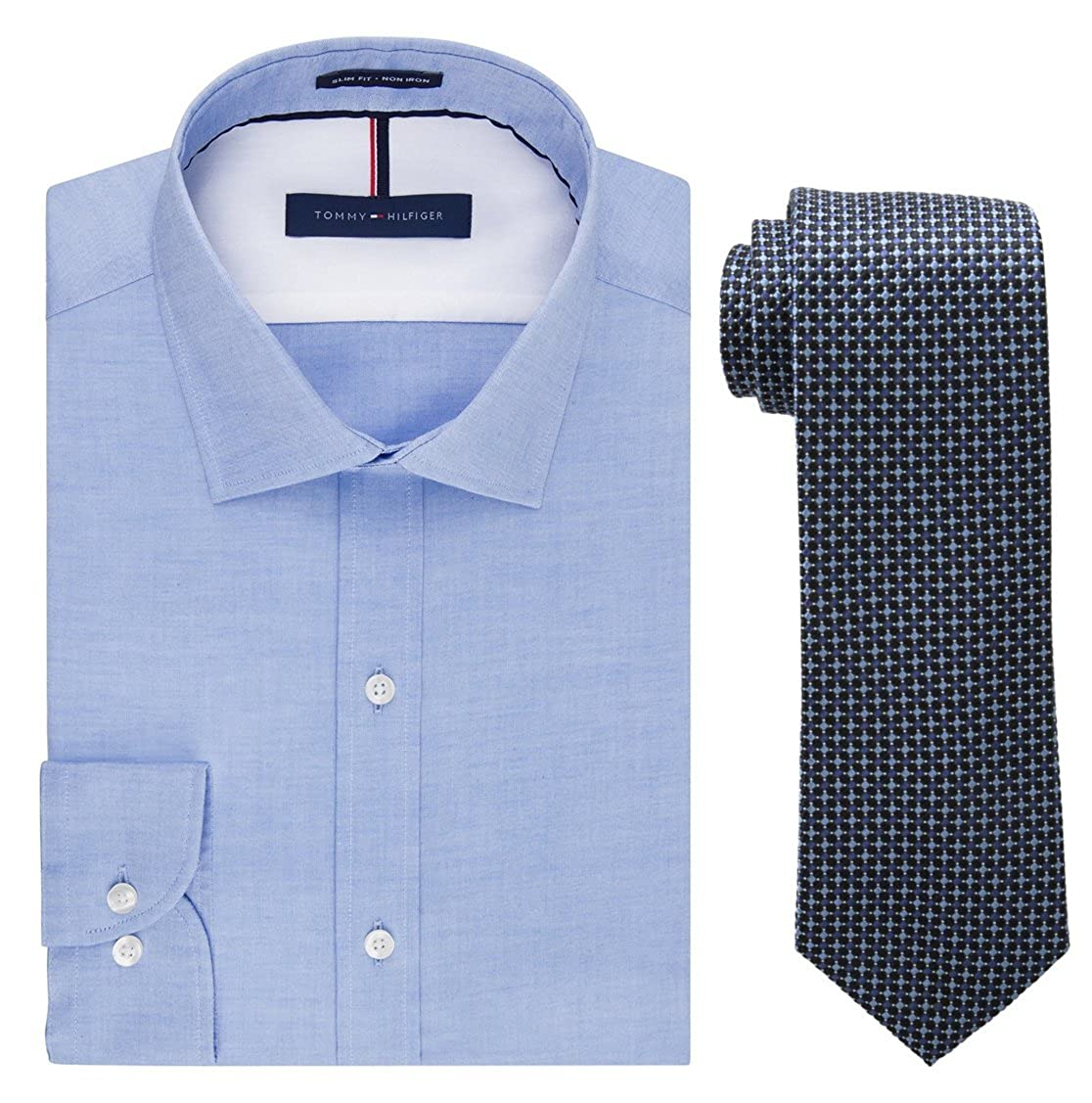 Amazon Tommy Hilfiger Mens Slim Fit Solid Dress Shirt And Core