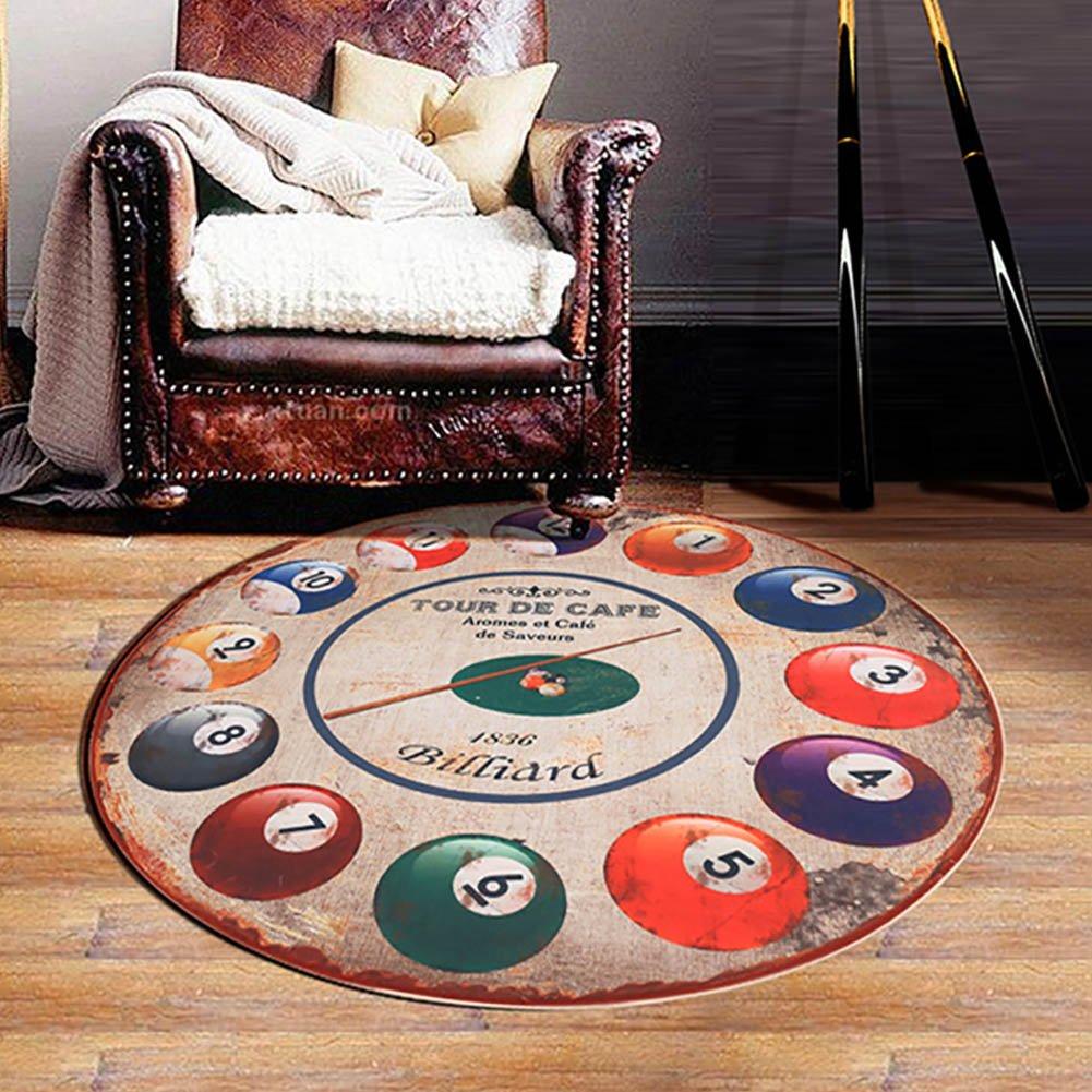 The The The Harvest Season- Retro-Teppiche Rutschfester runder Computer-Drehstuhl Stuhl Home Teppiche Durchmesser von 1m (Farbe : Retro, größe : 100cmX100cm) c79781
