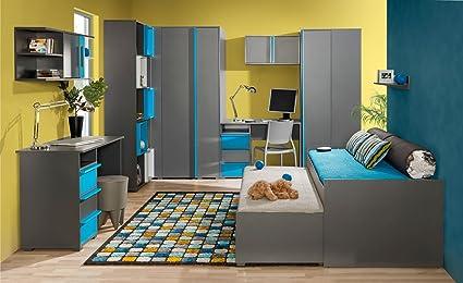 Dormitorio Juvenil Completo Jakob Set B 9 Piezas Color