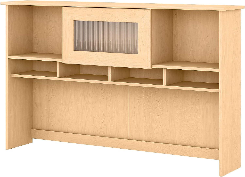 Bush Furniture Cabot Hutch, 60W, Natural Maple