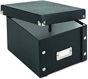 Snap-N-Store Durable Collapsible Index Card File Box, Fits 1100 5 x 8 Inch Index Cards (SNS01647)