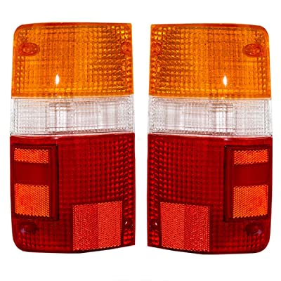 Taillights Tail Lamps Lens Driver and Passenger Replacements for 89-95 Toyota Pickup Truck 8155189166 8156189166: Automotive