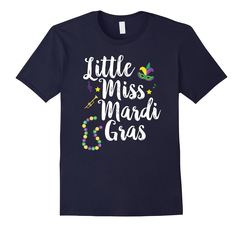 Little Miss Mardi Gras T Shirt Cute Girls School Parade