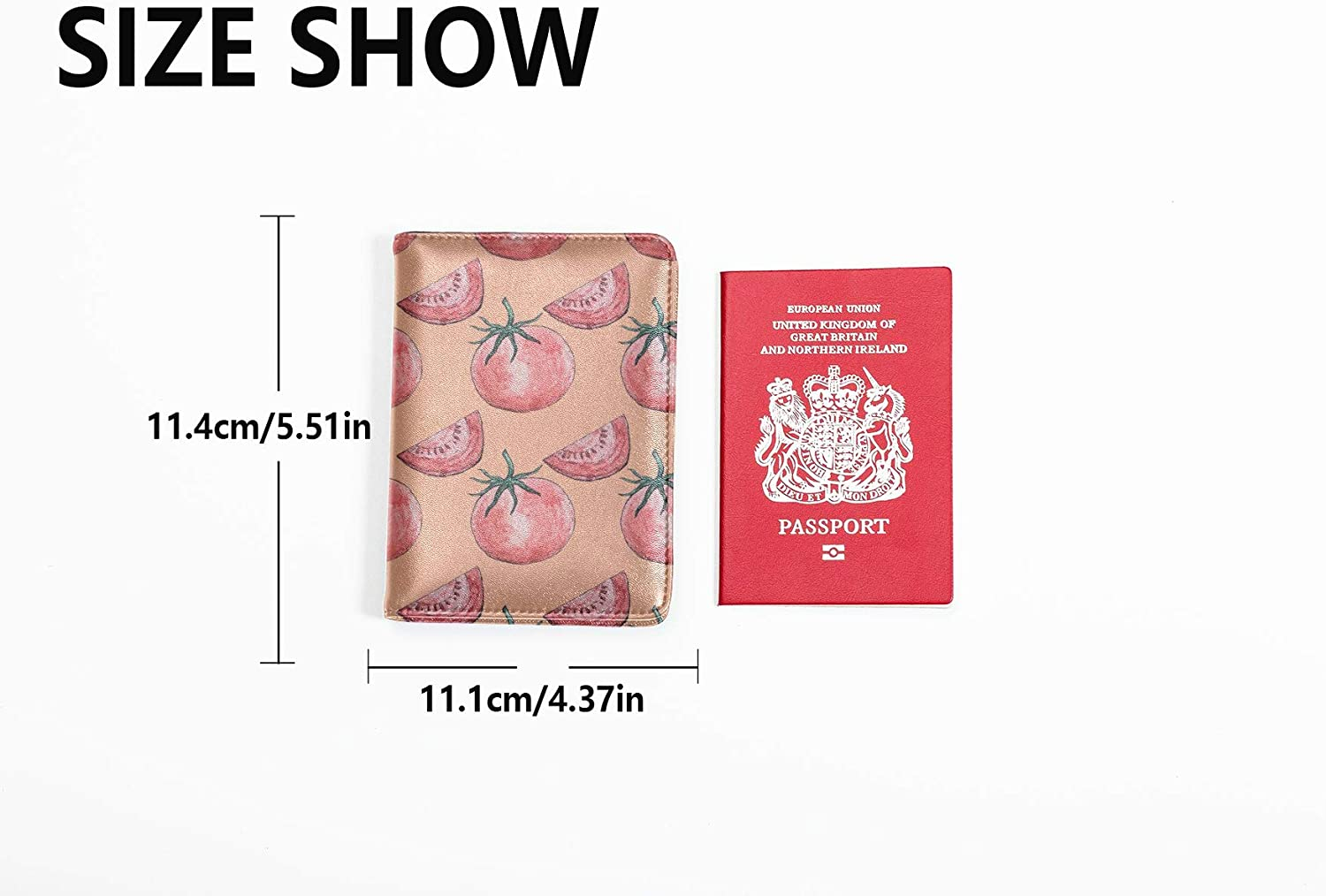 Uk Passport Cover Cute Fashion Naturel Vegetables Tomatoes Personalized Leather Passport Holder Cover Multi Purpose Print Passport Cover And Holder Travel Wallets For Unisex 5.51x4.37 Inch