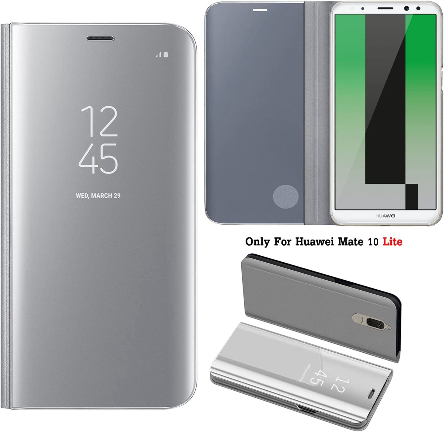 Guran® Mirror Efecto Espejo Funda para Huawei Mate 10 Lite Clear ...