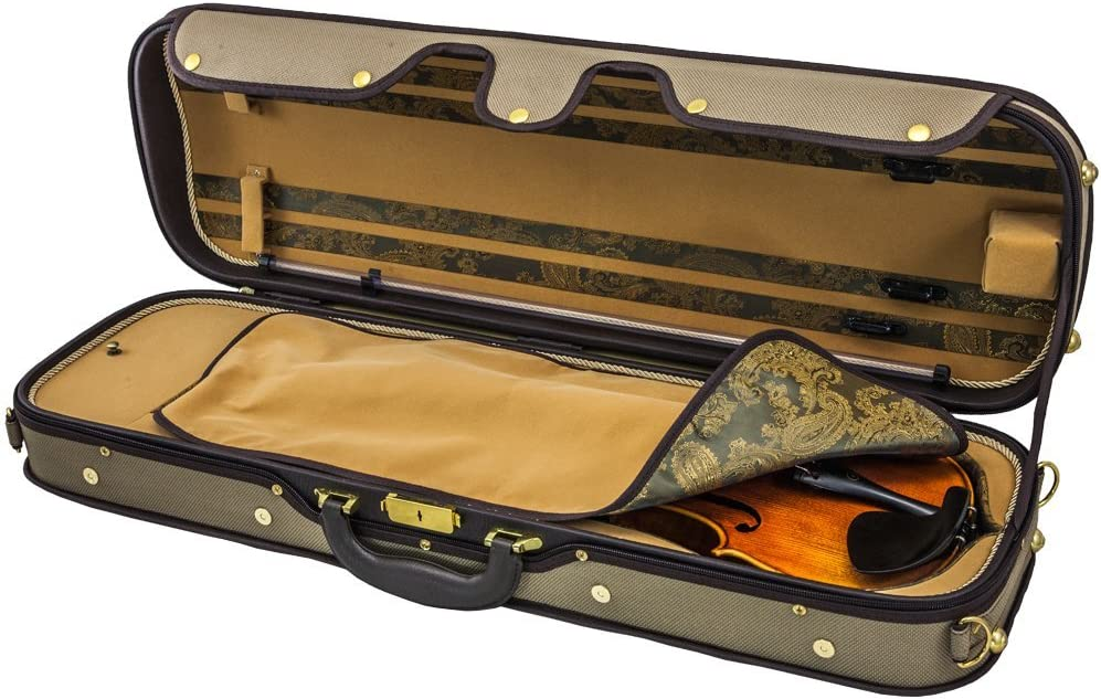 RED **CLEARANCE** *GREAT GIFT* SKY Deluxe Oblong 4//4 Violin Case