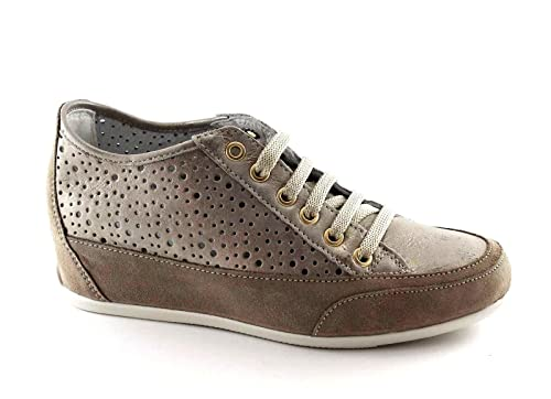 IGI & CO 77862 amarillentos del visón mujer zapatillas de deporte cordones cuña interior perforada 40