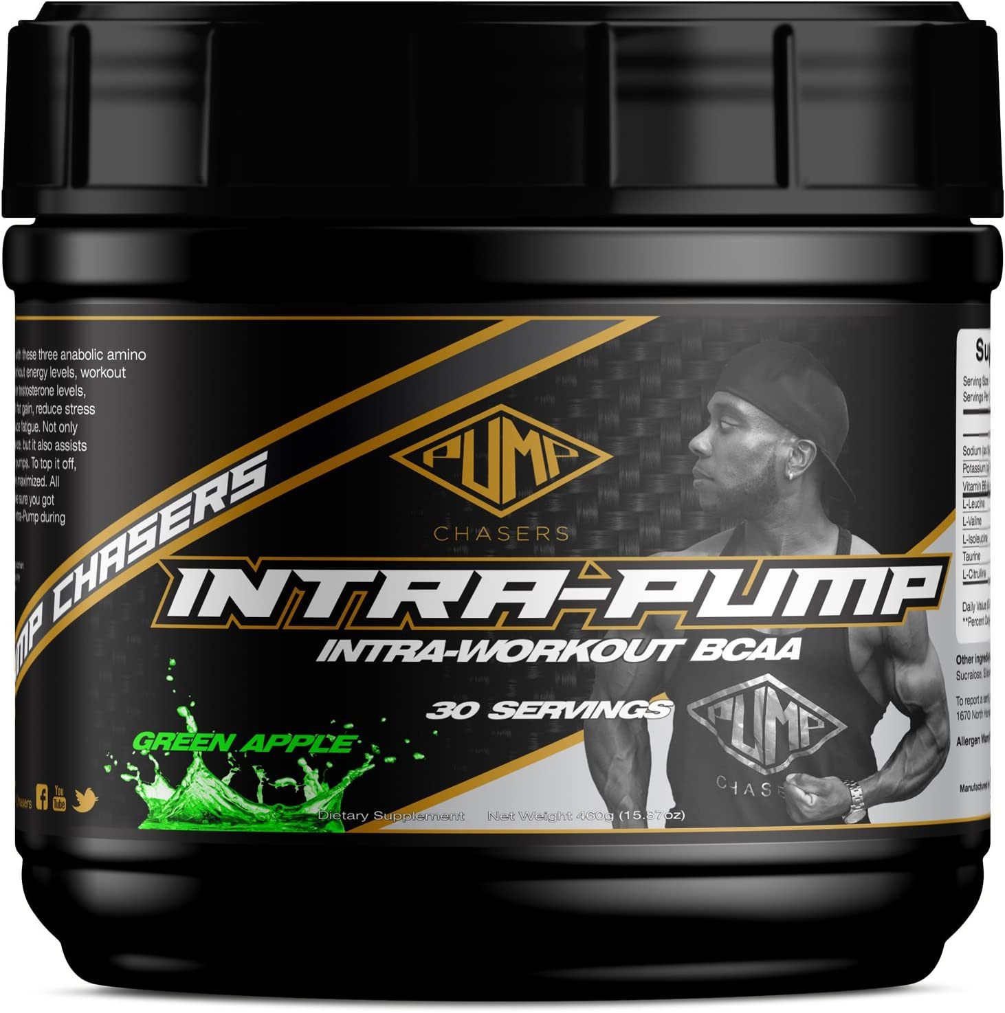 Pump Chasers Intrapump Green Apple – Intraworkout BCAA Supplement