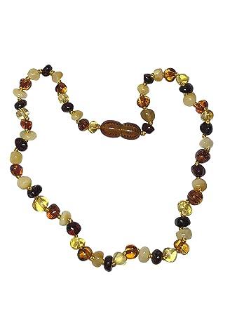Amazon Com Raw Baltic Amber Teething Necklace By Umai Pain