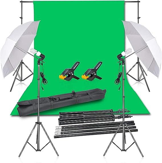 Emart Photography Backdrop Continuous Umbrella Studio Lighting Kit