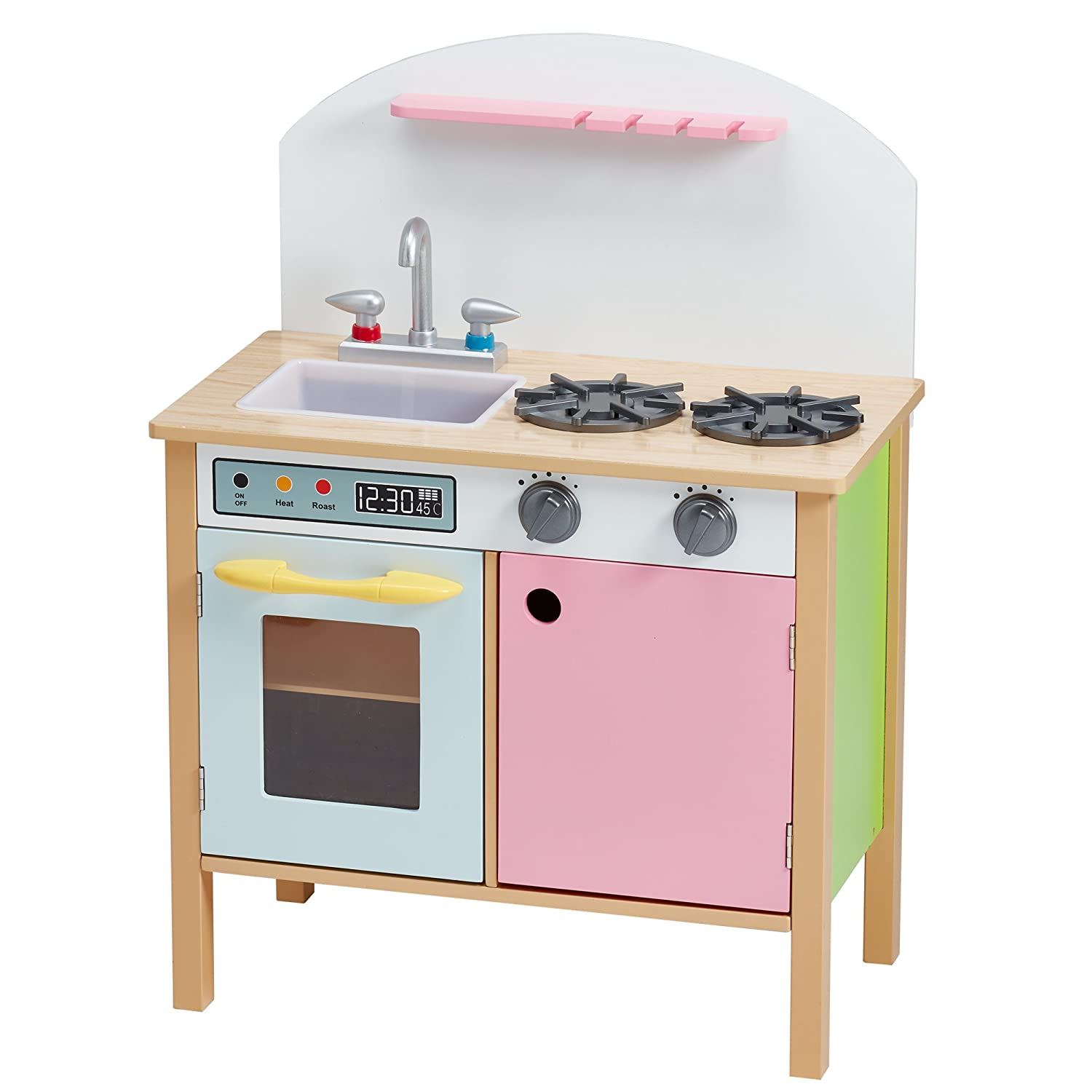 amazoncom teamson kids  pink play kitchen with dual doors toys . amazoncom teamson kids  pink play kitchen with dual doors toys  games