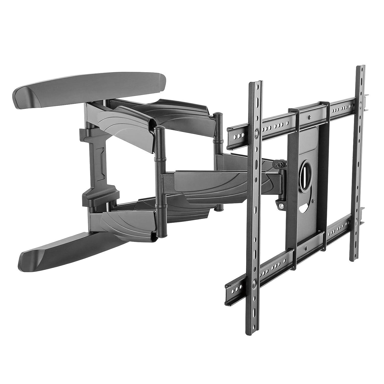Intecbrackets - Supporto da parete Super sottile (50mm) Doppio braccio. Adatto a Tv da 40 a 70 Pollici. Garanzia a vita. Tutti gli elementi di fissaggio sono inclusi FBA600B