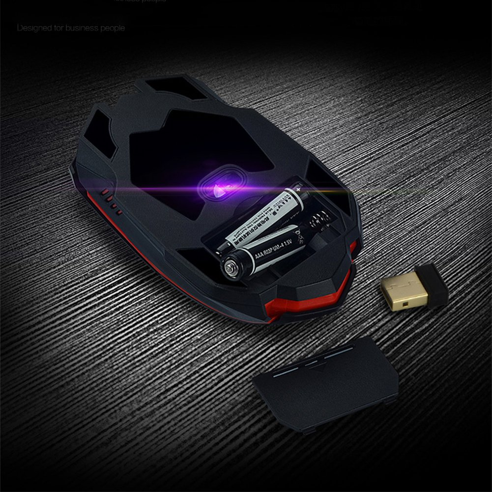 UrChoiceLtd/®CityForm HK8100 Wireless Multimedia Ergonom/ía Teclado de juego USB y 1000 1600DPI 2.4GHZ 4-Bot/ón Mouse Mouse Pad Kit