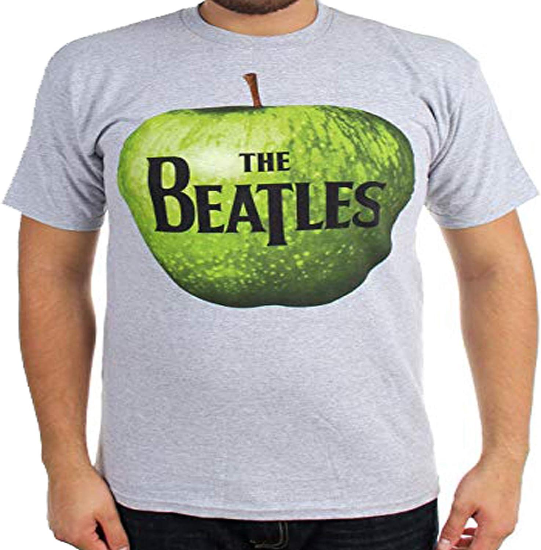 The Beatles Apple Logo Heather Grey T-Shirt XXL