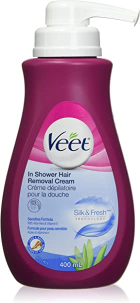 Veet In Shower Hair Removal Cream With Silk Fresh Legs Body