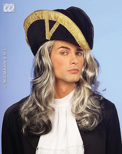 Adult Men's Navy Blue Velvet Bicorn Pirate Hat by Sancto