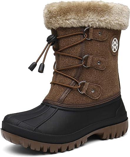 Kinder Jungen Winterschuhe Stiefel Boots Gefüttert Neu 9131 Schwarz 28-35