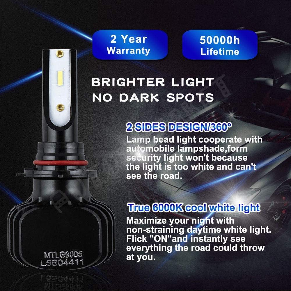 9006 HB4 CSP LED Headlight Lamp Light Bulbs Conversion Kit 980W 147000LM 6000K