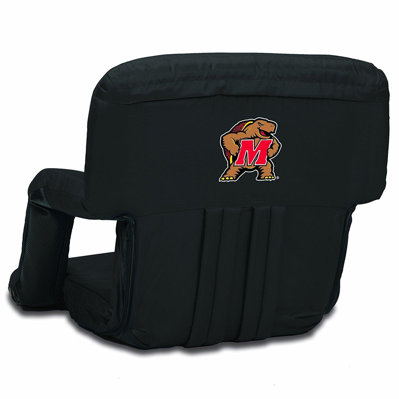 NCAA Maryland Terrapins Ventura Portable Reclining Seat Black [並行輸入品] B077QG2SNK