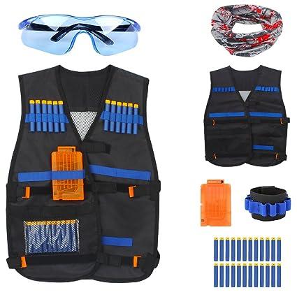 Elite Tactical Vest Kit Nerf N-strike Elite Series Black Airsoft Vest