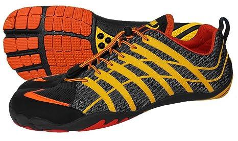 ZEMgear Barefoot - Zapatillas de Artes Marciales para Hombre Orange/Schwarz/Grau