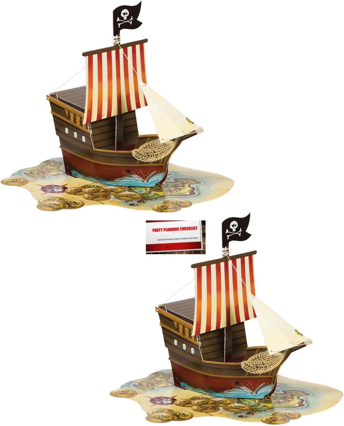 8 Count Favor Box Centerpiece Pirate Ship