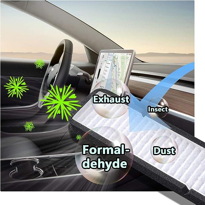 Lfoppt Lufteinlassfilter Model 3 Luftfilter Der Klimaanlage Austauschbarer Frischluft Cockpit Luftfilter Auto