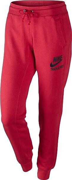 NIKE - Pantalones para mujer, tamaño L, color rojo