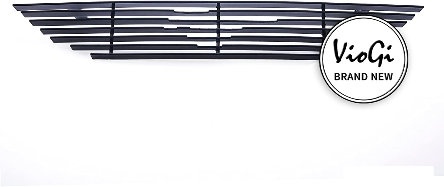 Laprive Auto 1pc Replacement Upper Black Powder Coated Billet Grille for 94-98 Mustang