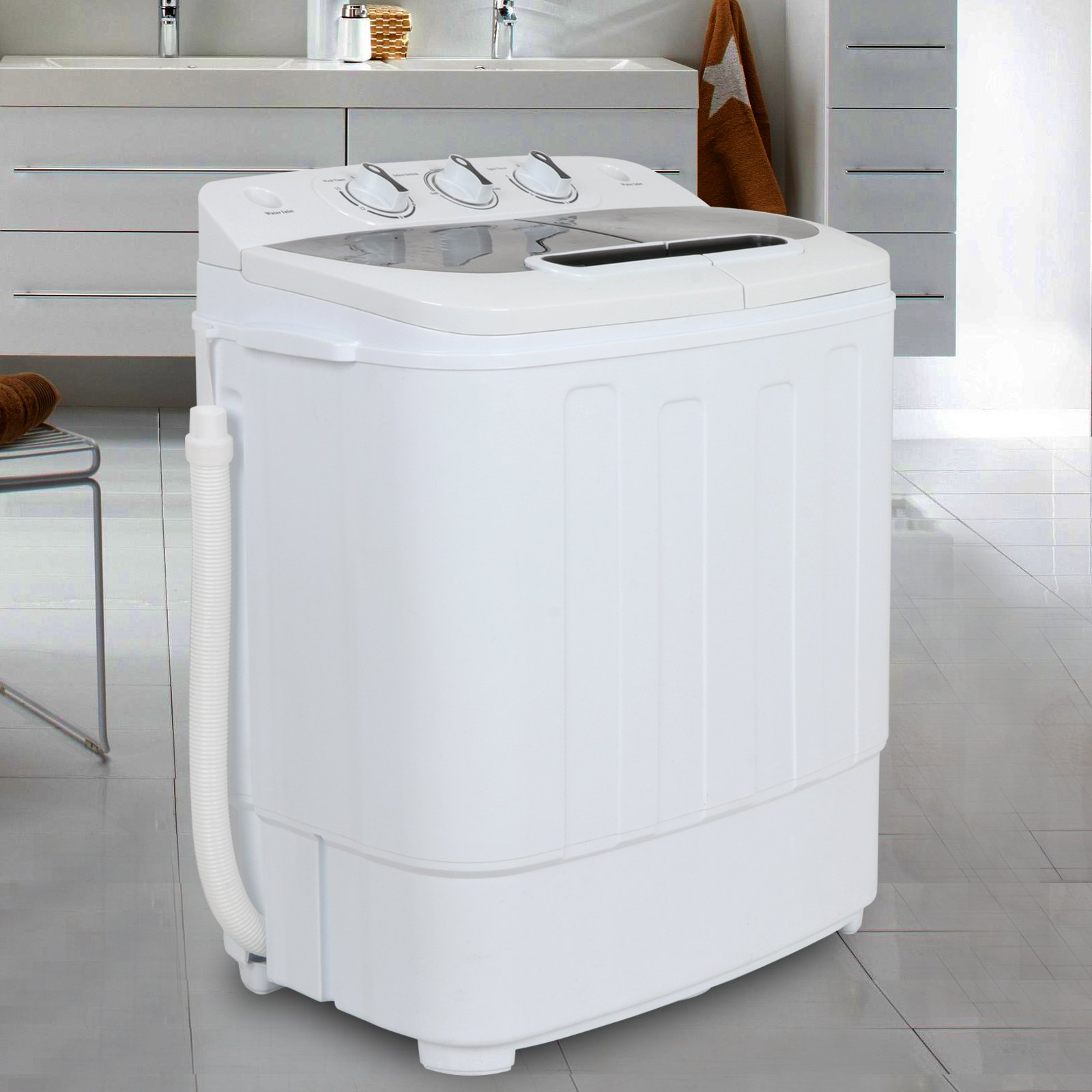 ZENY Portable Mini Twin Tub Washing Machine 13lbs Capacity with Spin Cycle Dryer, Lightweight For Apartments, Dorm Rooms