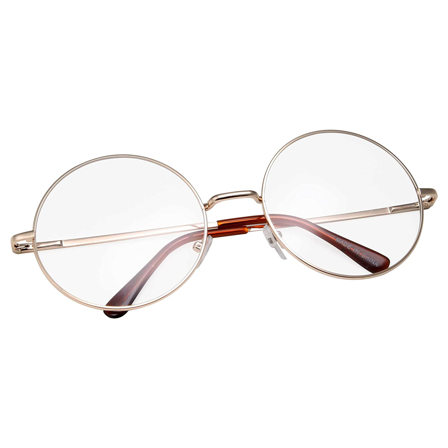Santa Claus Round Frame Clear Lens Glasses