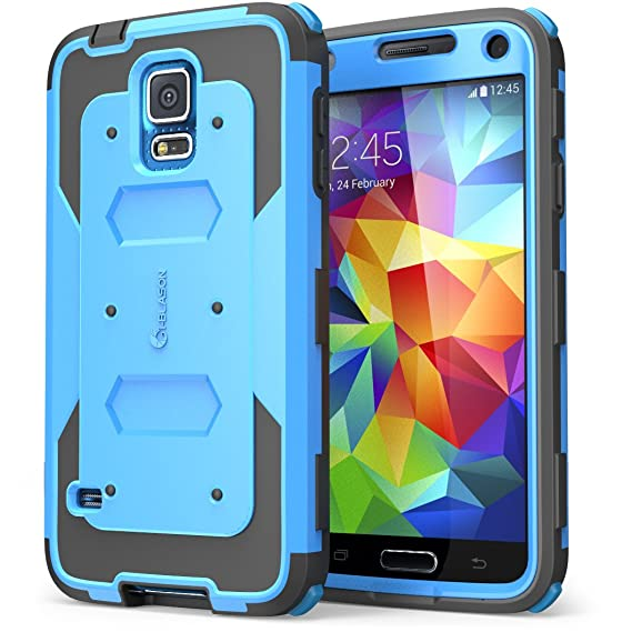 buy popular 241de cfb73 Galaxy S5 Case, i-Blason Armorbox Dual Layer Hybrid Full-body Protective  Case with Front Cover and Built-in Screen Protector/Impact Resistant  Bumpers ...