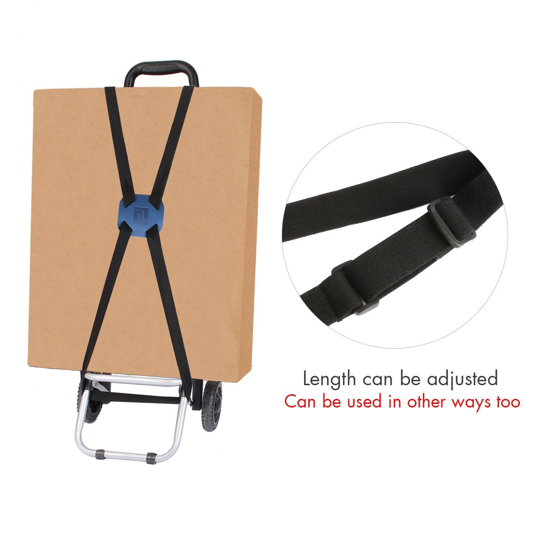Blue Bag Bungee Luggage Straps Suitcase Adjustable Belt