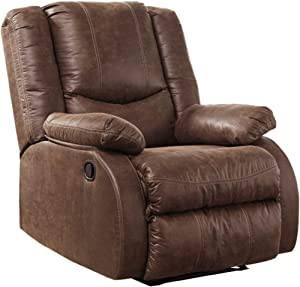 Signature Design by Ashley - Bladewood Casual Faux Leather Zero Wall Recliner - Pull Tab Reclining - Brown