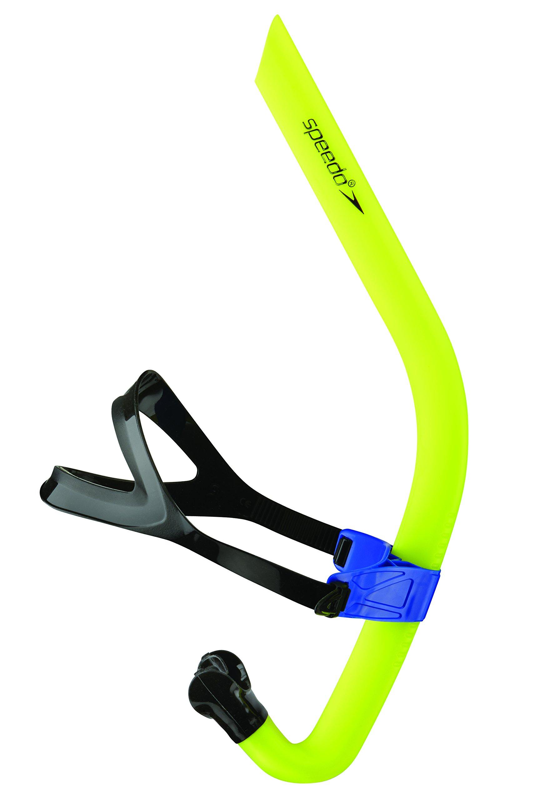 Speedo Bullet Head Swimmer's Snorkel, Shocking Lime, 1SZ by Speedo