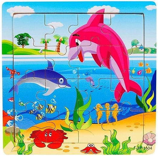 Kloius Puzzles para Niños Juguetes Animales Vehículos Jigsaw ...