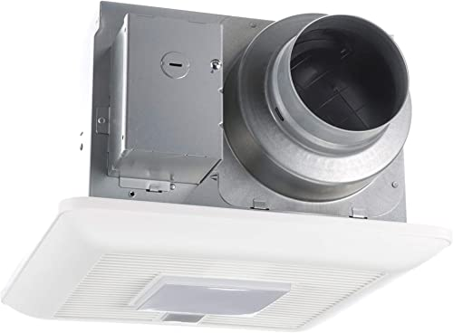 Panasonic FV-0511VQCL1 WhisperSense Ventilation Fan Light, Motion Humidity Sensors, Speed Selector,White