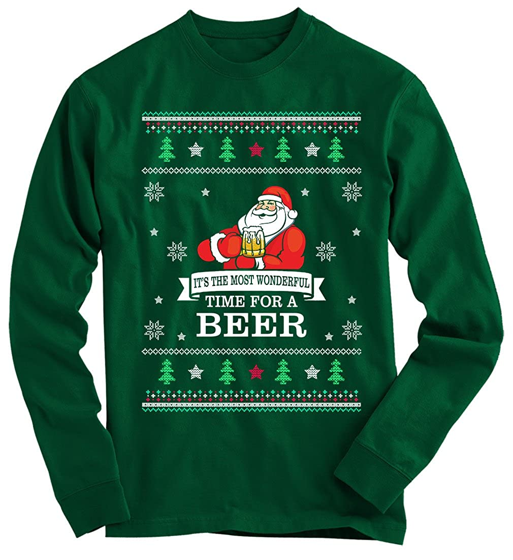 Gnarly Tees Men's Beer Ugly Christmas Sweater