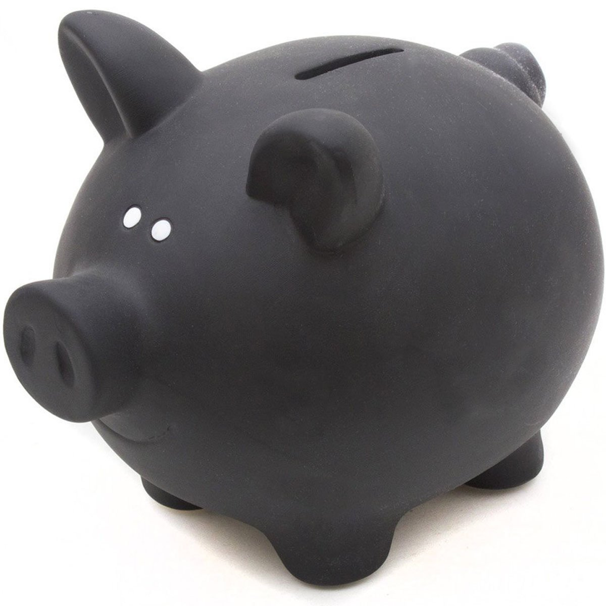 Ceramic Blackboard Piggy Bank for Writing on with Chalk Goods & Gadgets