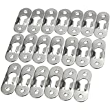 SNOWINSPRING 20 Pcs 44mm Metal Keyhole Hanger Fasteners Picture Photo Painting Fasteners