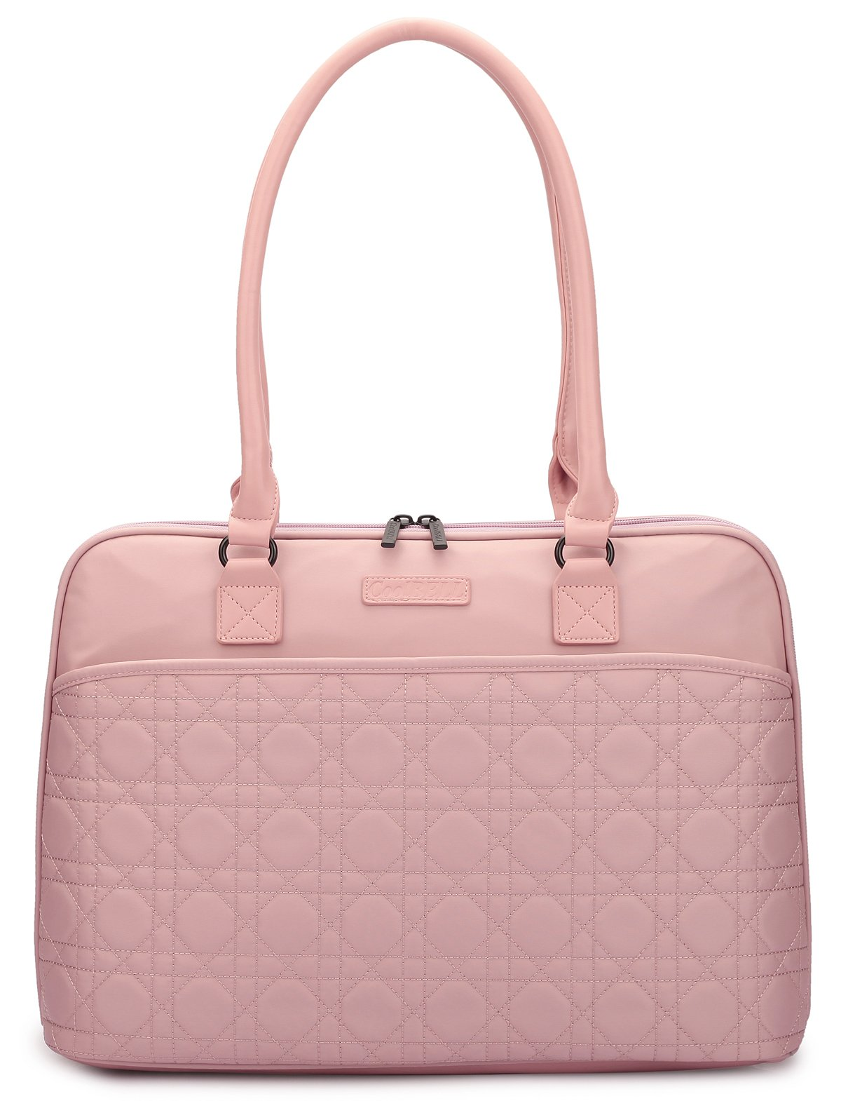 CoolBELL 15.6 Inch Laptop Tote Bag Women Handbag Nylon Briefcase Classic Shoulder Bag For Laptop/Ultra-book/Macbook/Tablet/(Rose Gold)