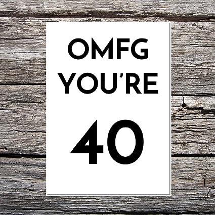 Funny AF tarjetas de lujo A5 lino tarjeta cumpleaños edad ...
