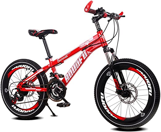 Fenfen Bicicleta para niños 7-10-14 años de edad Bicicleta de montaña de 18/20 pulgadas Carro de bebé de alto carbono Bicicleta de acero, Azul/amarillo/rojo/naranja (Color : 18 inch red): Amazon.es: Hogar