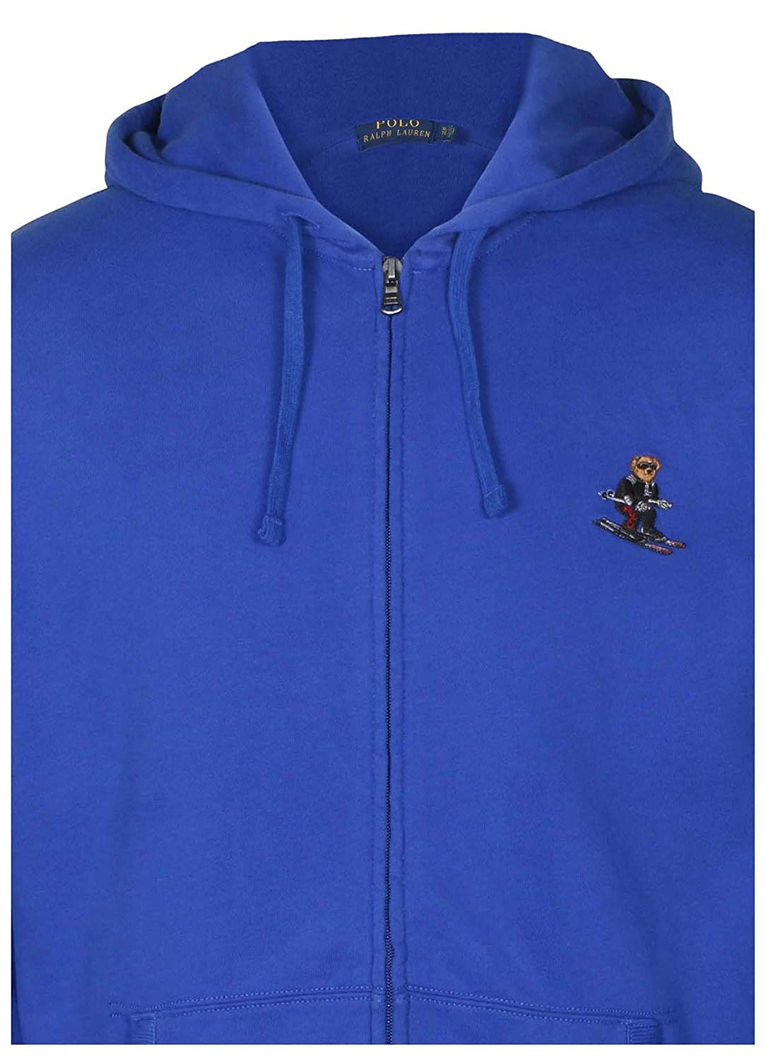 Amazon Com Polo Ralph Lauren Men S Zip Up Fleece Bear Logo Hoodie