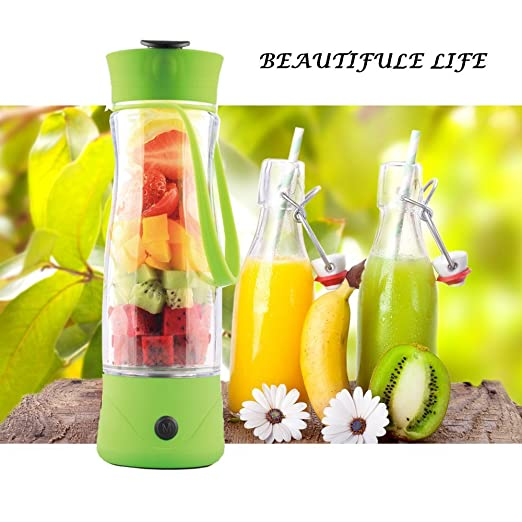 hameng Mini Bottle Juicer Personal Mini Blender Includes 350 ml ...