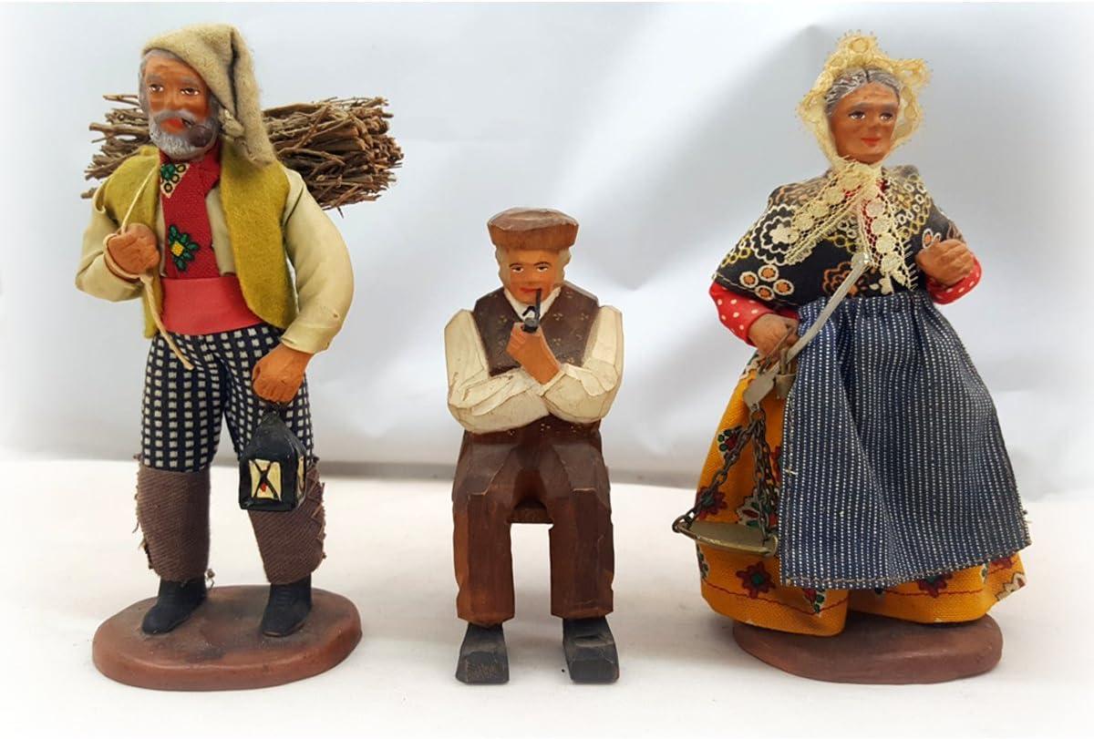 Vintage 1970s M. Chave Aubagne Terra Cotta muñecas en disfraces de ...
